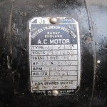 One of the original motors from the old electric conversion
