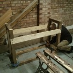 Constructing the wooden clock frame