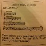 Guildford chimes, from Watch & Clock Encyclopedia by Donald De Carle