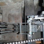 Bell levers on chiming train (top view)